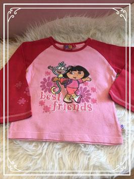 Roze Dora longsleeve - maat 104-110