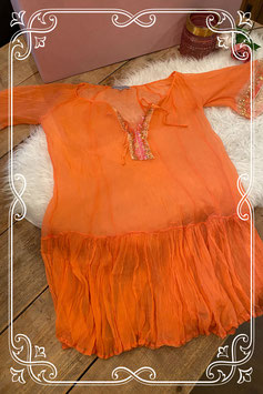 Zalmroze bikini dress - Maat 42