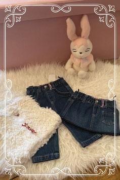 Driedelige set van jeans en een knuffelvest - maat 68