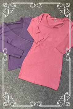 Nieuw! 2 longsleeves van Esmara en Hema in 2 kleuren paars in maat S