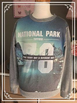 Grijze sweater van Tiffosi Denim - maat 140