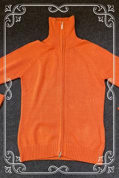 Nieuw! Oranje vest met kraag van Yessica maat S