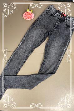 Stoere zwart/grijze broek van Teen Girls maat 164