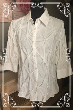 Witte blouse met bloemen van MS Mode - Maat L