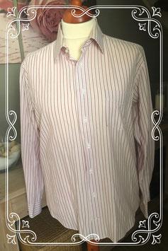 Leuke roze gestreepte blouse van LIV Collection maat L (41-42)