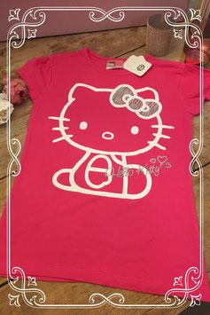 Nieuw: Roze korte mouwen shirt Hello Kitty van C&A - maat 158-164