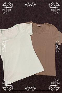 Nieuw! Donkergroen shirt van Essentials en lichtblauw shirt van Tail Twist maat S-36