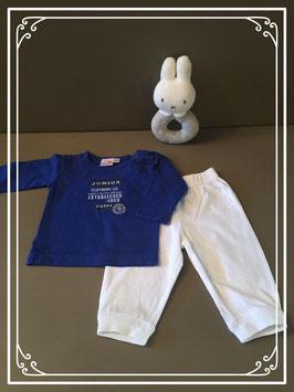Tweedelig blauw setje van Prenatal - maat 56