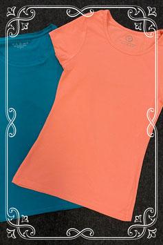 2 elastische shirts in het roze en blauw in maat S
