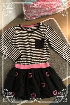 Zwart-wit met roze jurkje van het merk Z8 - maat 86