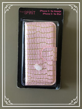 Telefoonhoesje roze voor de iphone 5 en 5s