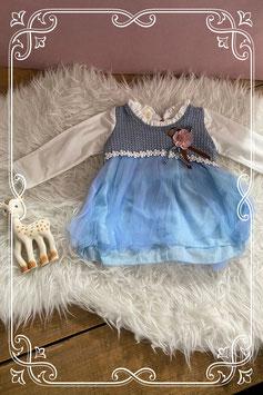 Blauw jurkje van jojo's advonturo - maat 68