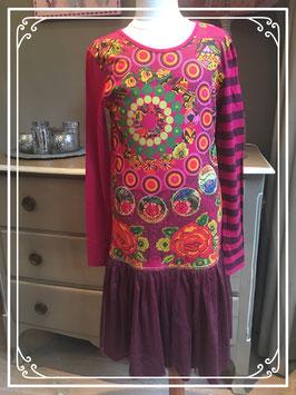 Nieuw: donkerroze jurk van Desigual - maat 158-164