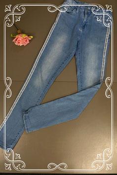 Stoere spijkerbroek met strepen in maat 164