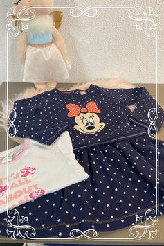 Minni mouse op een mooie 2 delige set jurkje en rompertje van Disney Maat 86