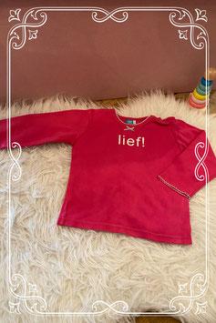 roze shirt van Lief - maat 86