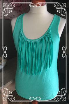 Turquoise mouwloze top van Miss Etam - Maat L