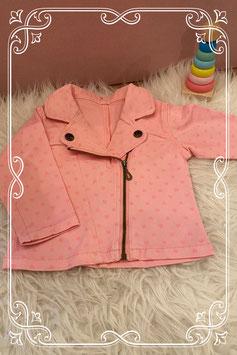 Roze jasje met hartjes - Maat 80
