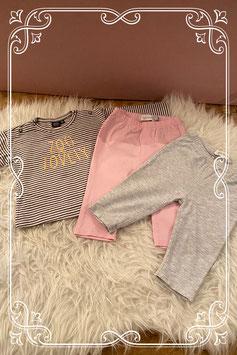 3 delige kledingset met gestreept shirt van Babyface - Maat 68