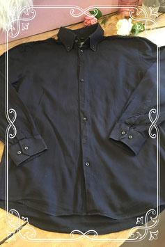 Zwart overhemd van Montego - Maat M