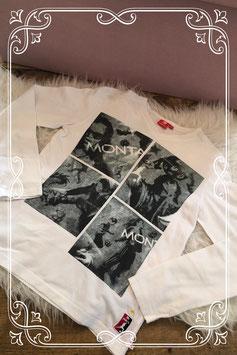 Wit bedrukt t-shirt van Monta - Maat 146-152