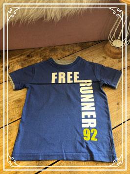 Blauw t-shirt van Zara kids - maat 104