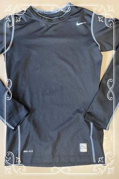 Zwart sportshirt met lange mouwen van Nike maat 152/158