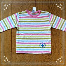 Vrolijk gestreept shirtje - maat 86