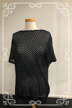 Sierlijk gehaakt zwart shirt maat XL