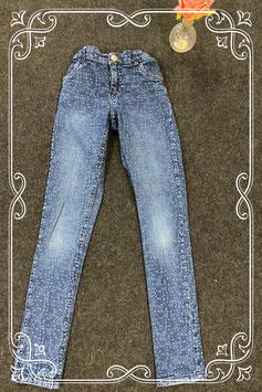 Stoere blauwe spijkerbroek van Hema maat 164