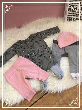 Vijf delige kleding set grijs en roze van verschillende merken Maat - 56