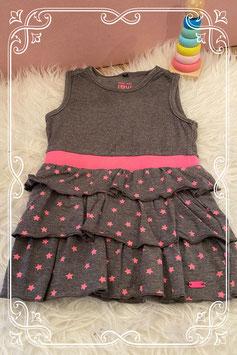 Schattig jurkje van frendz in grijs met roze sterren - Maat 80