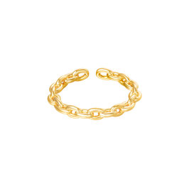 Nieuw: YEHWANG - RING CONNECTED - GOLD