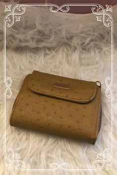 Nieuw: Bruine portemonnee met stipjes