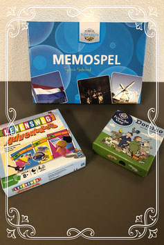Leuk pakket met vakantiespellen: Domino met Levensweg en Memory