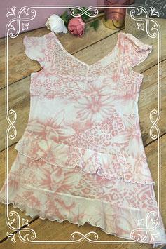 Doorschijnende wit met roze top van Esteem - maat s