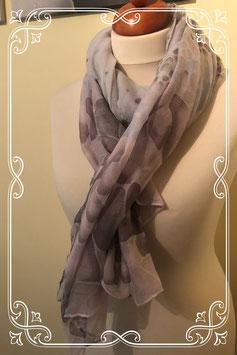 Sjaal met roze en paarse tinten
