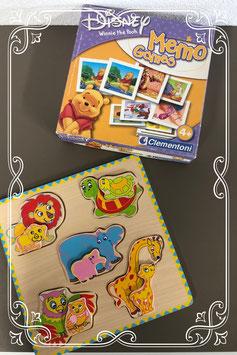Houten puzzel en Winnie The Pooh Memory