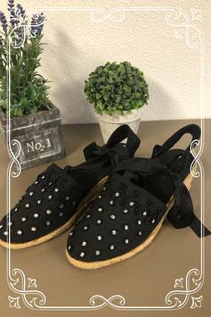Nette zwarte sandalen met sleehak maat 39
