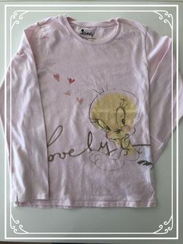 Lichtroze lange mouwen shirt van Tweety - Maat 128