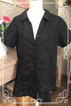 Stoer zwart blousje van clockhouse-maat M
