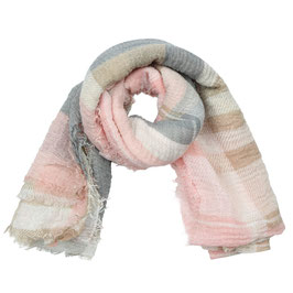 Nieuw: Yehwang - Scarf Check Me Out - Pink & Grey