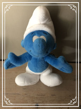 Blauw met witte smurfknuffel
