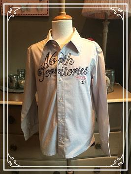Lichtgrijs stoer hemd van Ministars - maat 140-146