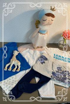 6-delige set: Truitje -  romper - broekje - rokje - maillot en pyjamabroekje maat 68