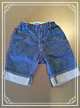 Blauw jeans broekje - maat 92