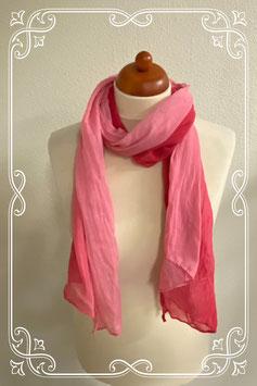 Mooie damessjaal met roze tinten