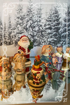 Set met leuke kerst beeldjes