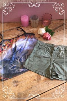 2 delig setje kleding groene broekje van Blue Queen/ hemd (merkloos) - Maat 122
