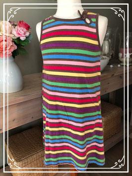 Kleurrijk gestreept jurkje van H&M maat 128